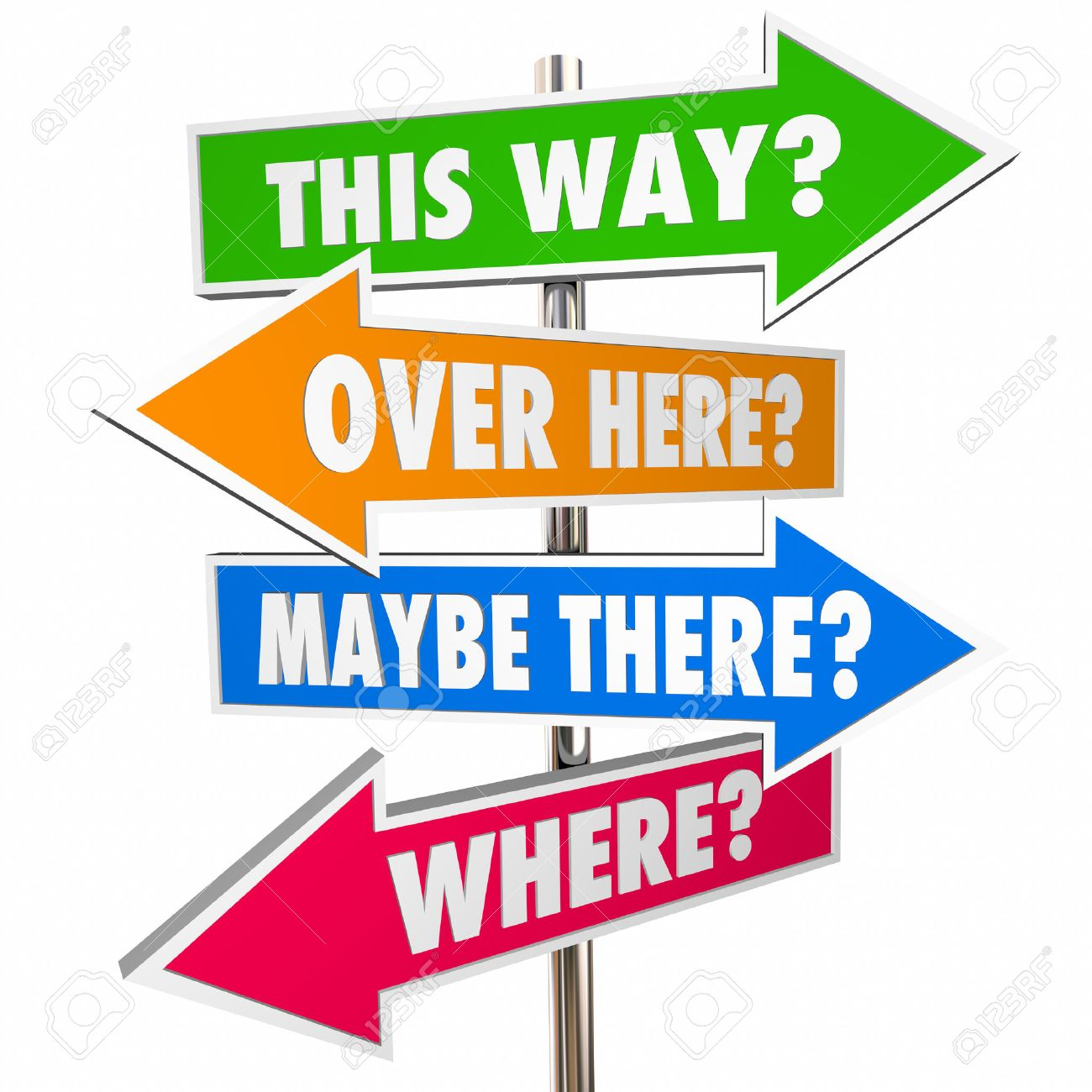 this way over there arrow signs lost confusion help direction