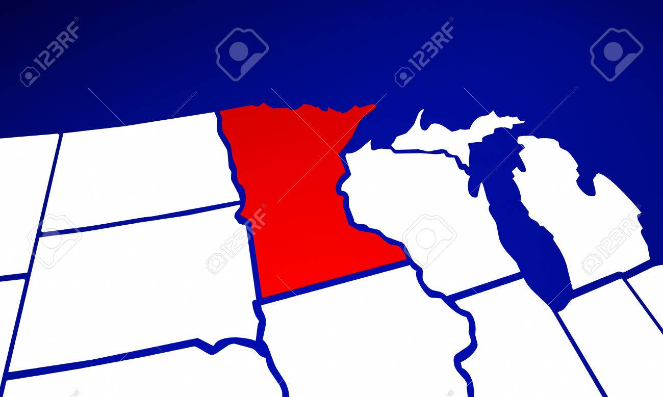 Minnesota MN State United States Of America 3d Animated State ...