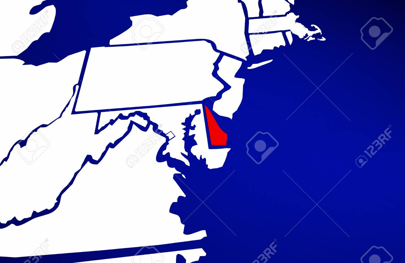 Delaware DE State United States Of America 3d Animated State.. Stock ...