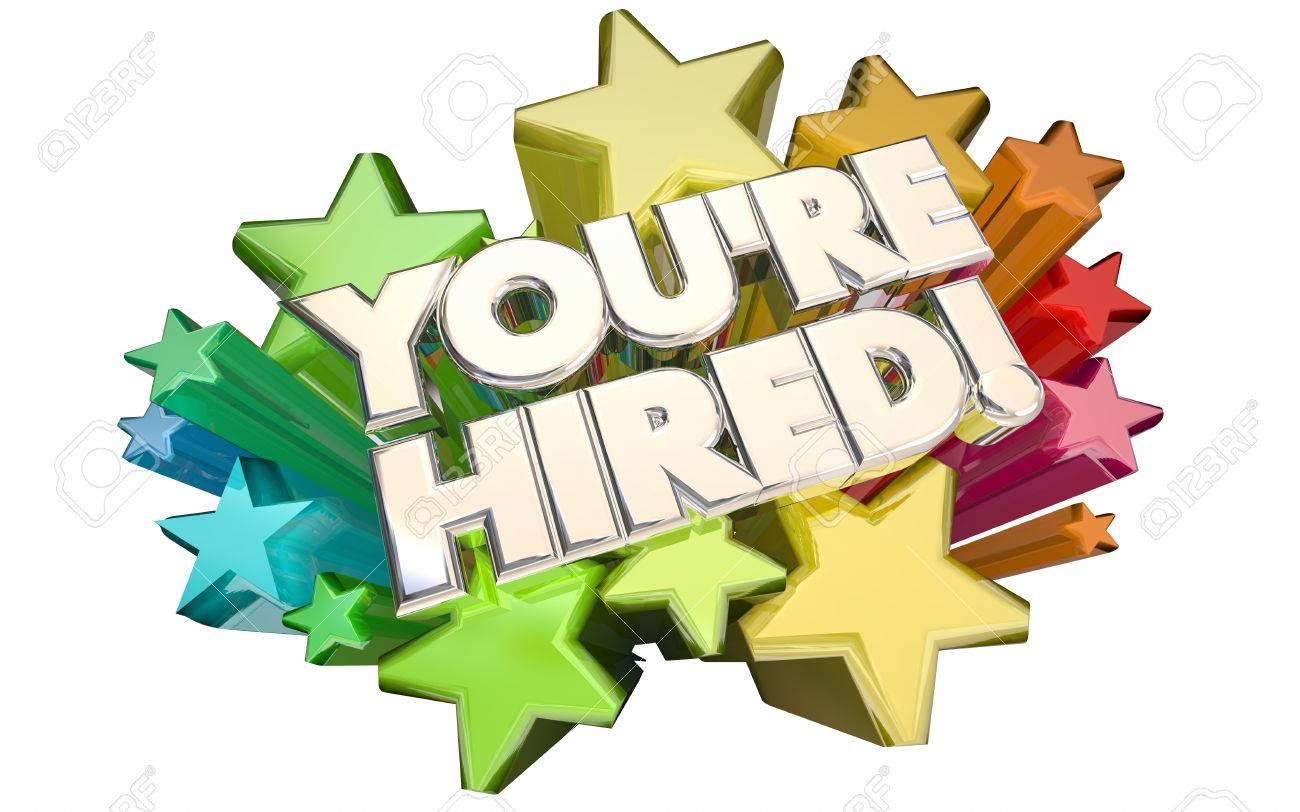 Tu Eres Entrevistado Contratado Candidato Trabajo Candidato éxito ...