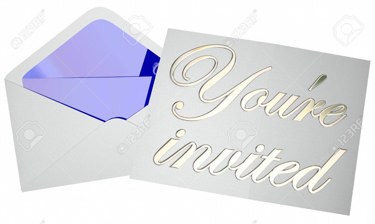 Youre Invited Invitation Envelope Party Event Open Note Message ...