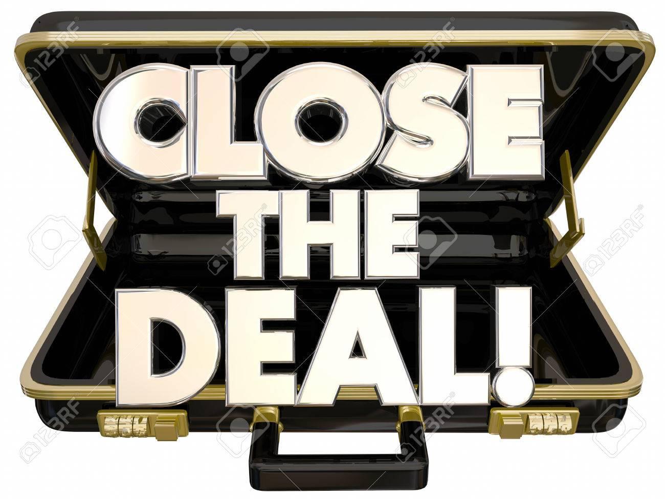 Close the Deal Briefcase 3d Words Sales Success - 56097649