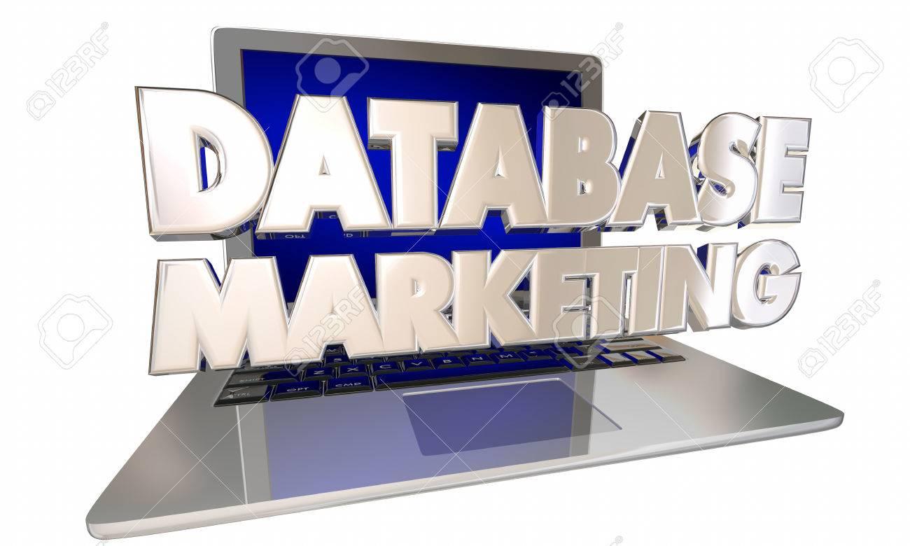 Base de données marketing Records Informations clients Ciblage Ordinateur portable