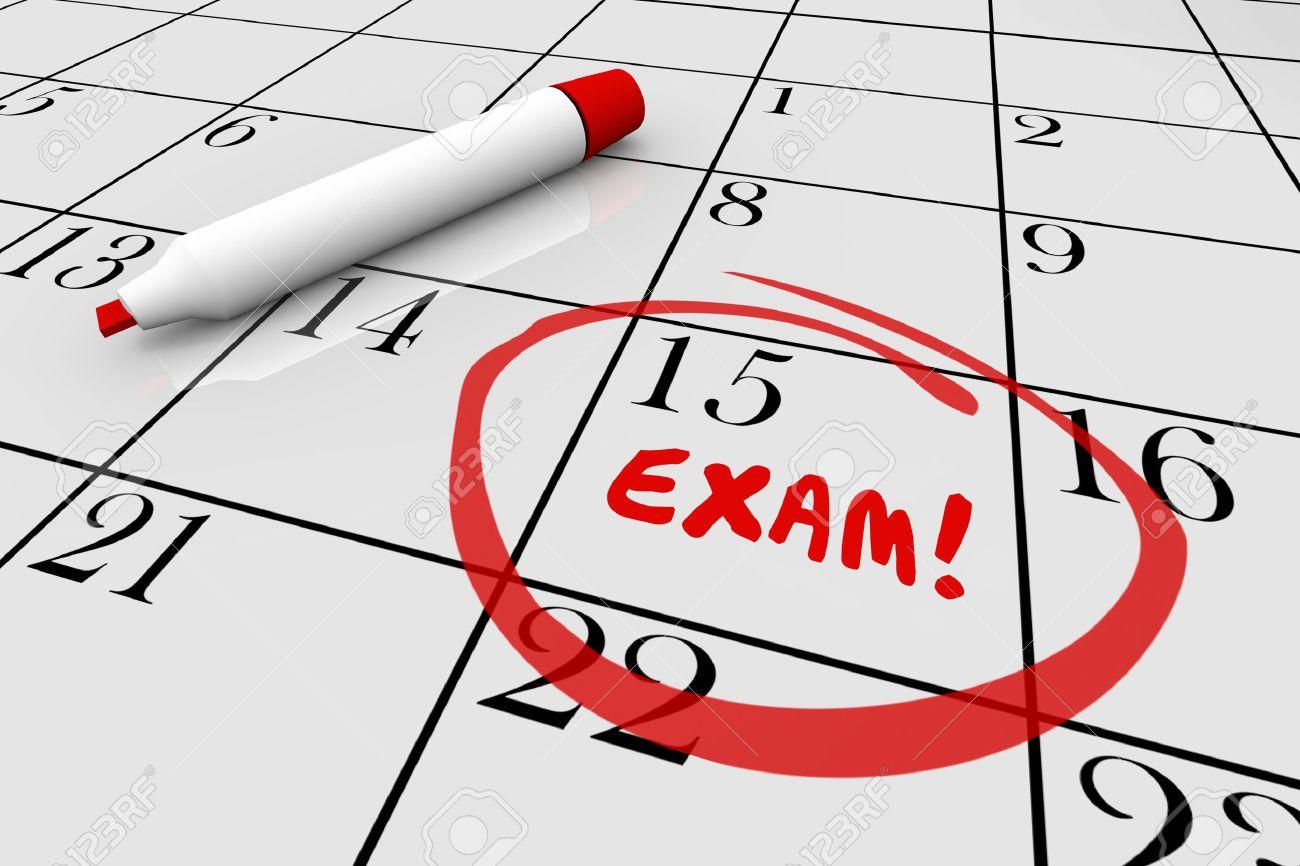 Calendario Examenes Derecho Us.La Prueba Del Examen Final De La Escuela Fisica Chequeo Medico Calendario Ilustracion 3d