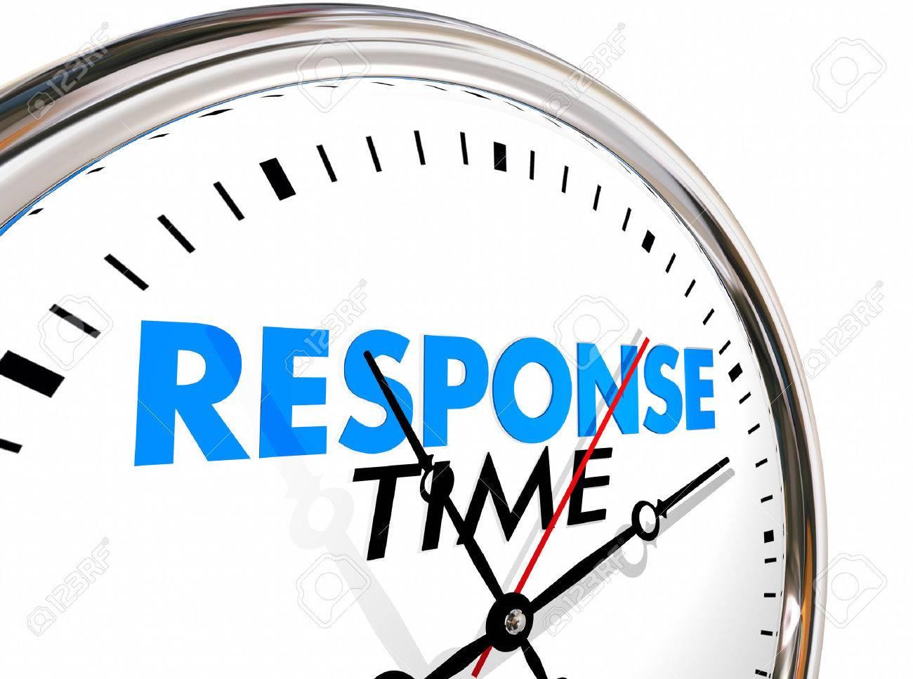 Temps De Réponse Rapide Vitesse D'horloge Service Attention 3d Illustration Banque D'Images Et Photos Libres De Droits. Image 64815856.