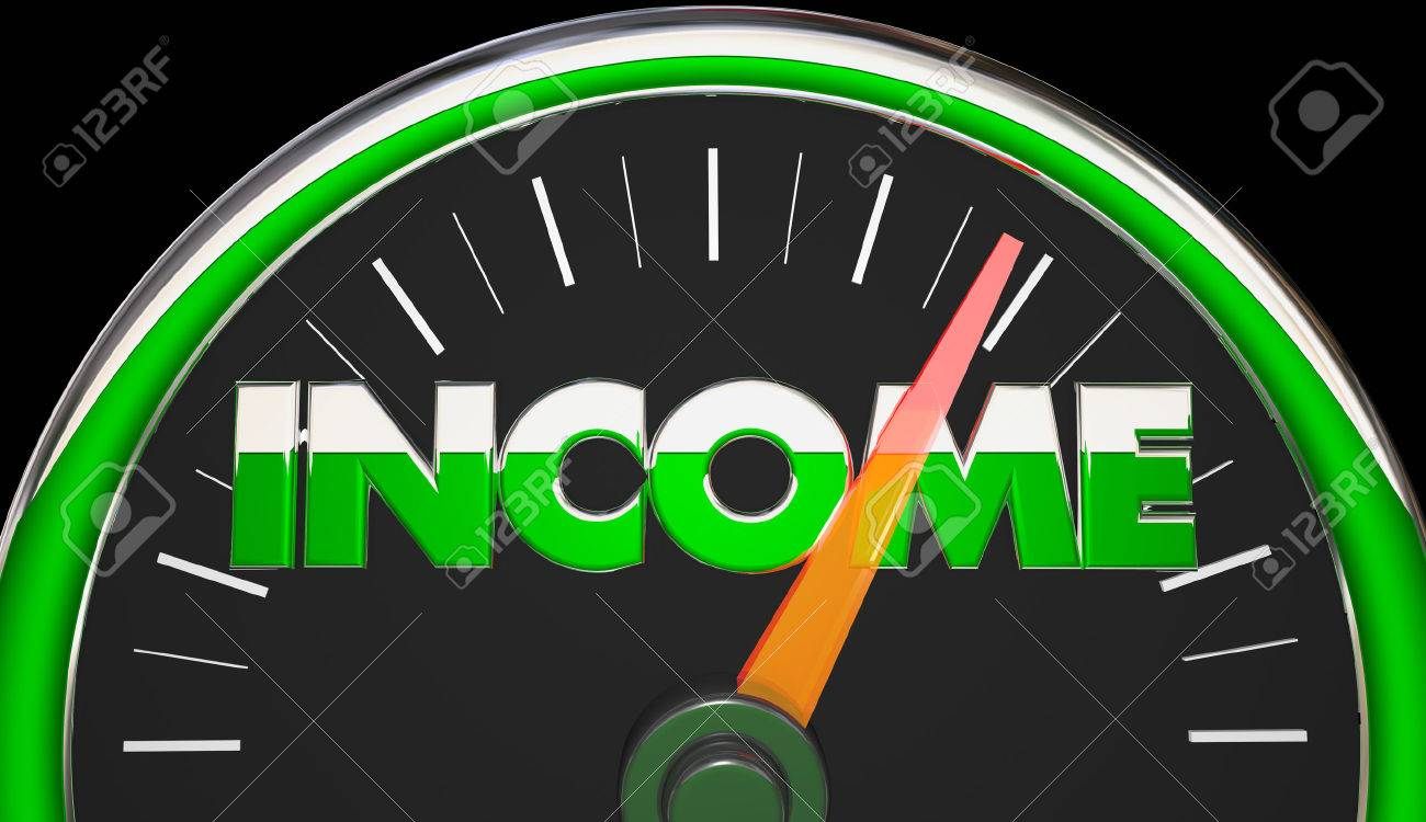 income earnings salary wages raise speedometer d illustration illustration income earnings salary wages raise speedometer 3d illustration