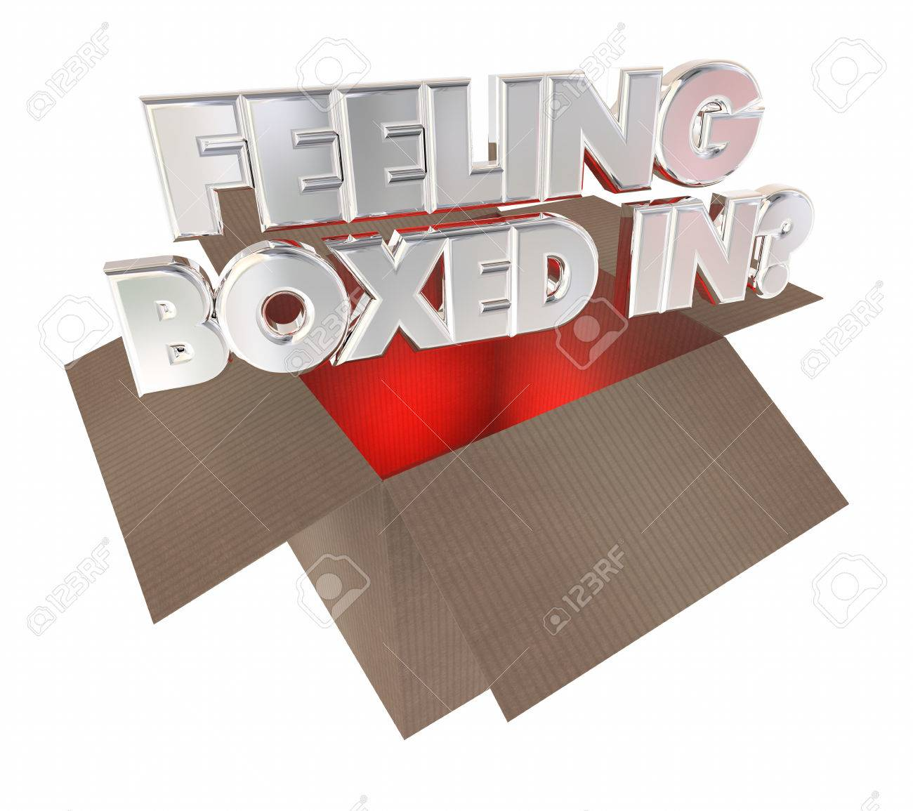 Feeling boxed in cardboard package trapped 3d illustration stock feeling boxed in cardboard package trapped 3d illustration stock illustration 66529397 buycottarizona Gallery