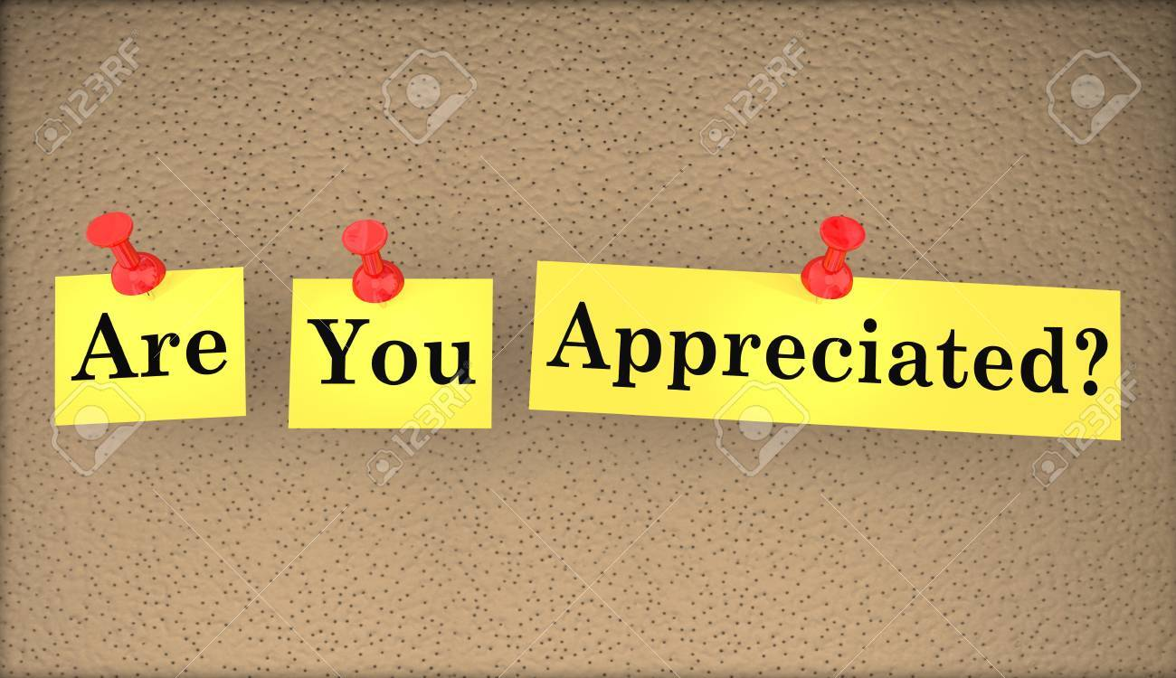 are you appreciated question words appreciation 3d illustration stock illustration 67090460
