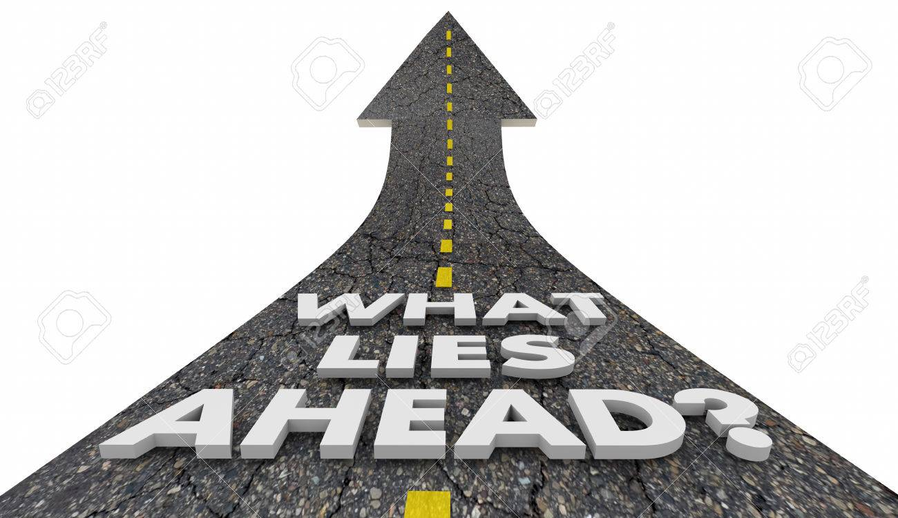 What Lies Ahead Road Future Progress Words 3d Illustration Stock Photo,  Picture And Royalty Free Image. Image 69834246.