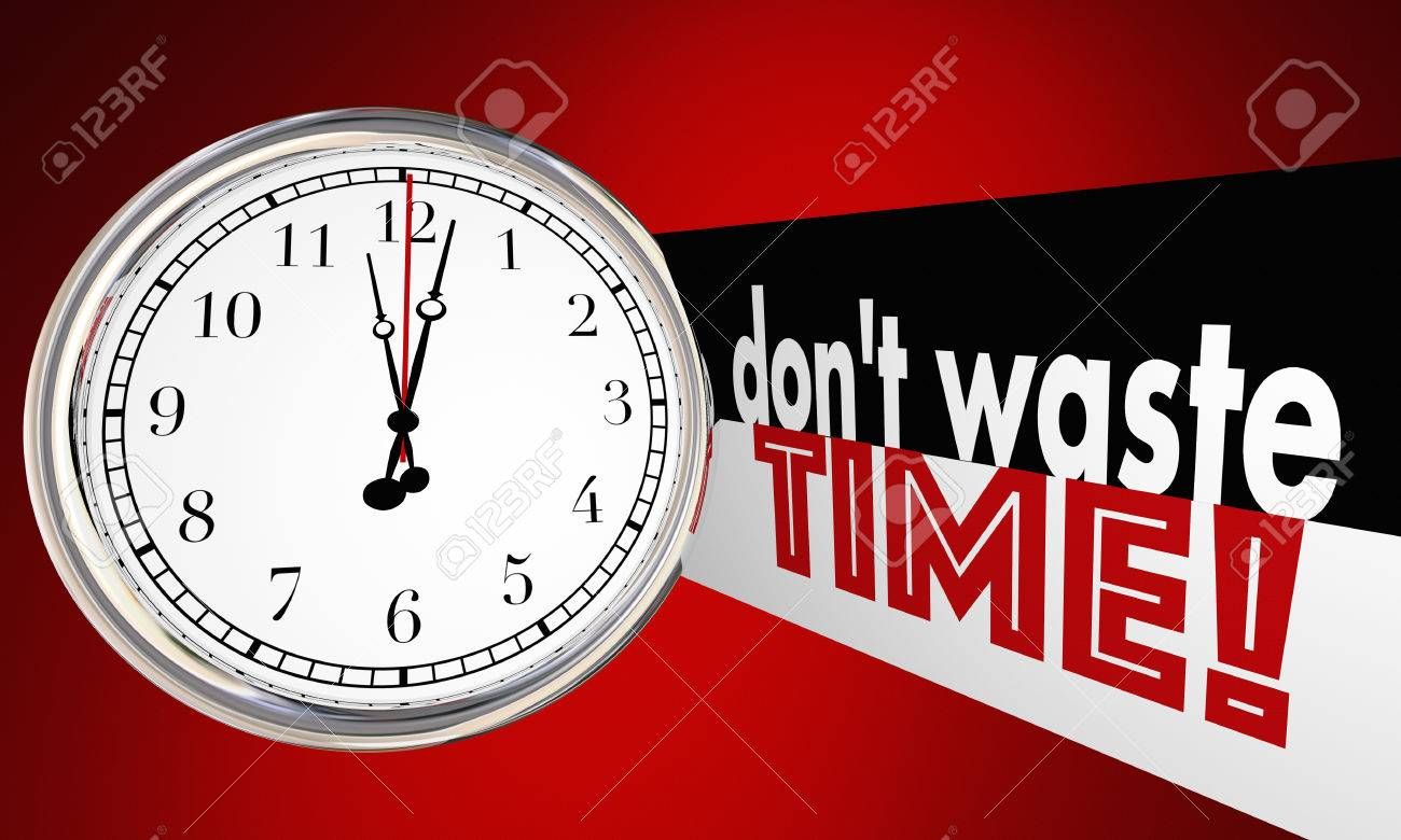Stock illustration 3d red text quot yes quot stock illustration royalty - Wisely Dont Waste Time Clock Words Use Wisely 3d Illustration