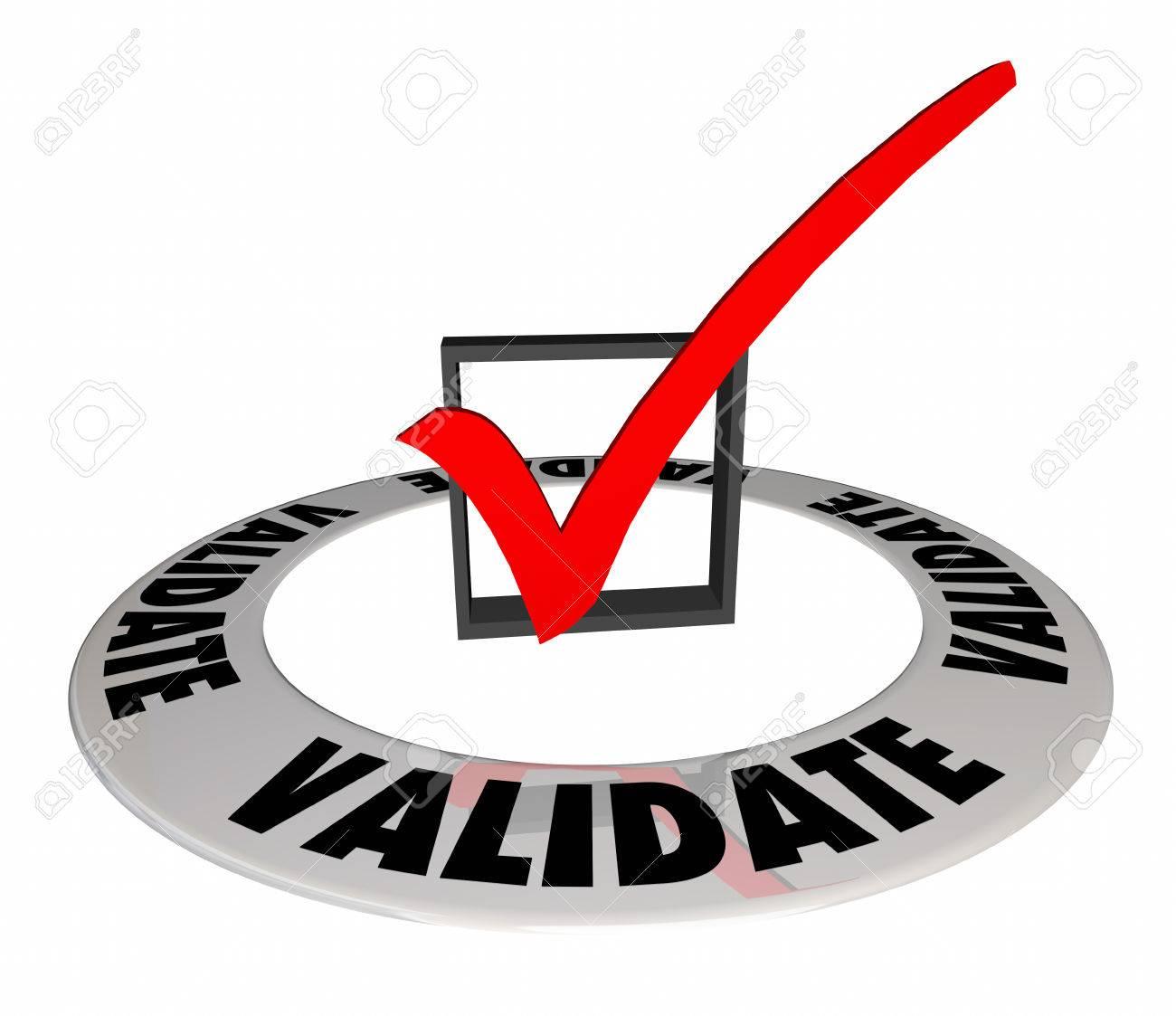 Validate Check Mark Box Confirm Verify Approve 3d Illustration - 78737264
