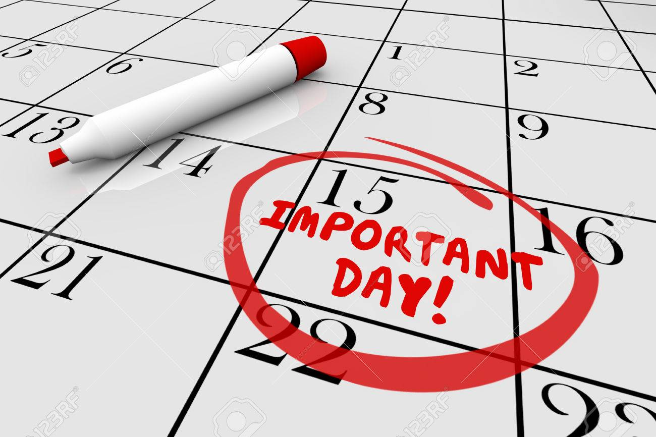 Important Day Calendar Big Date Circled 3d Illustration Stock Photo,  Picture And Royalty Free Image. Image 81560886.