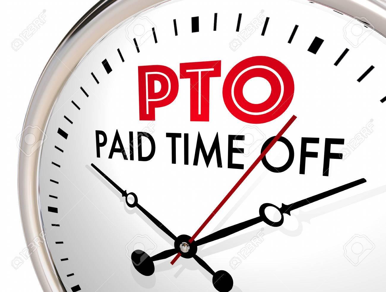 時計をオフに支払わ PTO 休暇時...