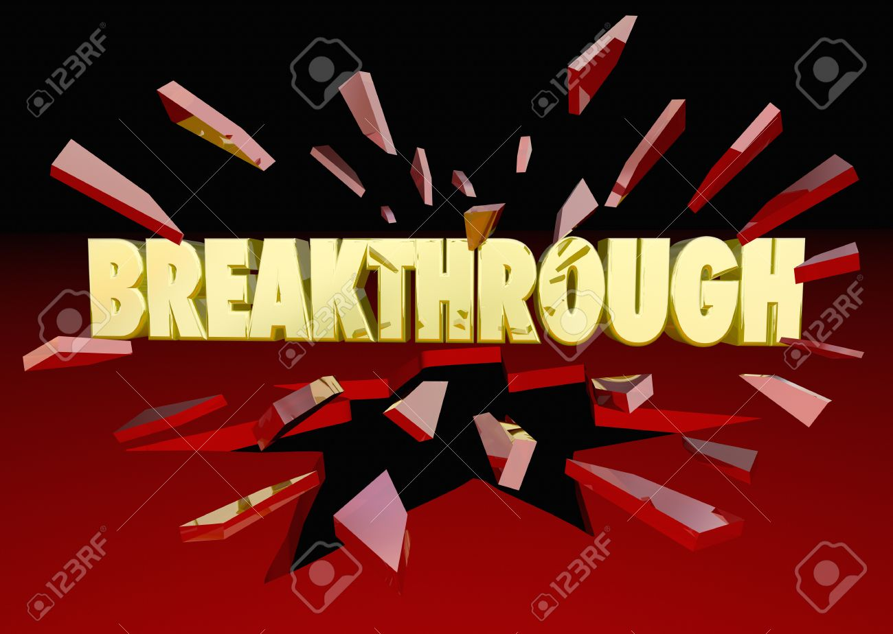 Stock illustration 3d red text quot yes quot stock illustration royalty - Improve Breakthrough Words Breaking Thru Glass 3d Illustration Stock Photo