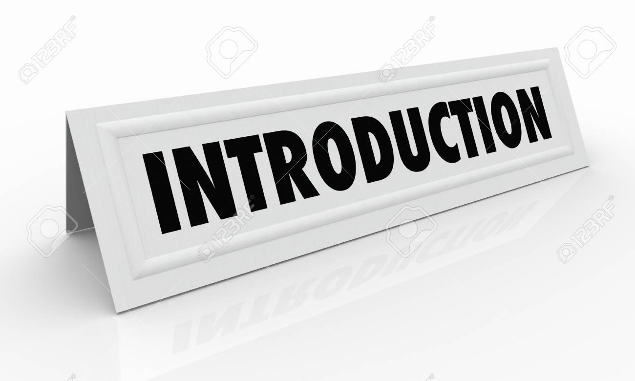 Introduction Carte de tente Invité orateur Illustration 3d