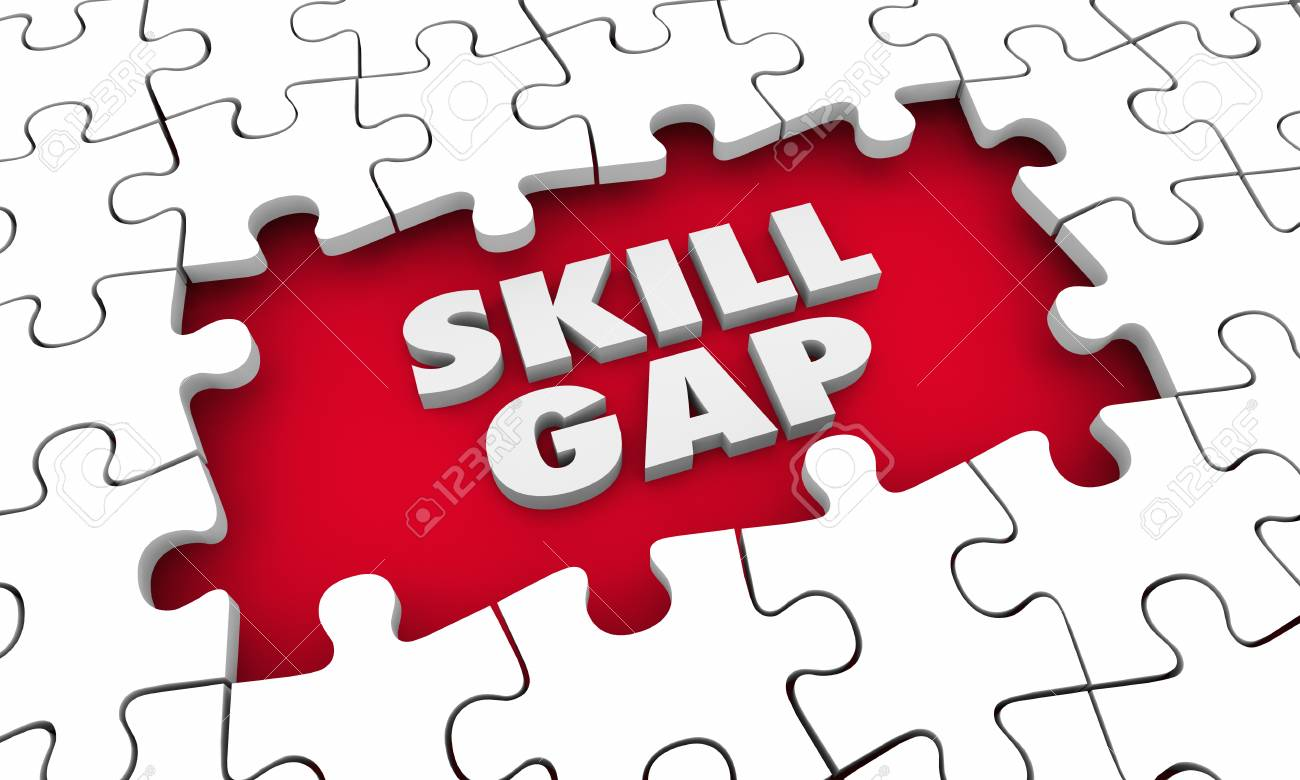 Skill Gap Knowledge Expertise Puzzle 3d Illustration - 88154151