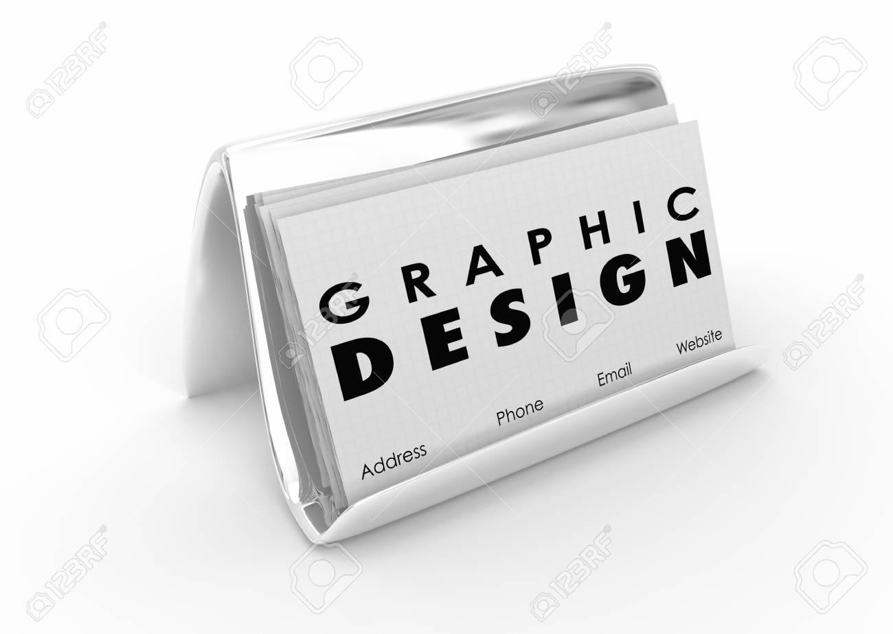 Graphic Design Business Cards Artist Designer 3d Illustration Stock ...
