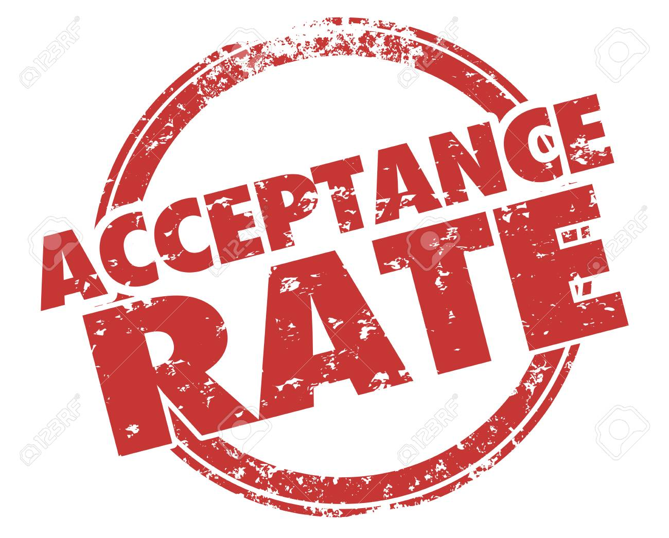 acceptance rate stamp approval response illustration stock photo