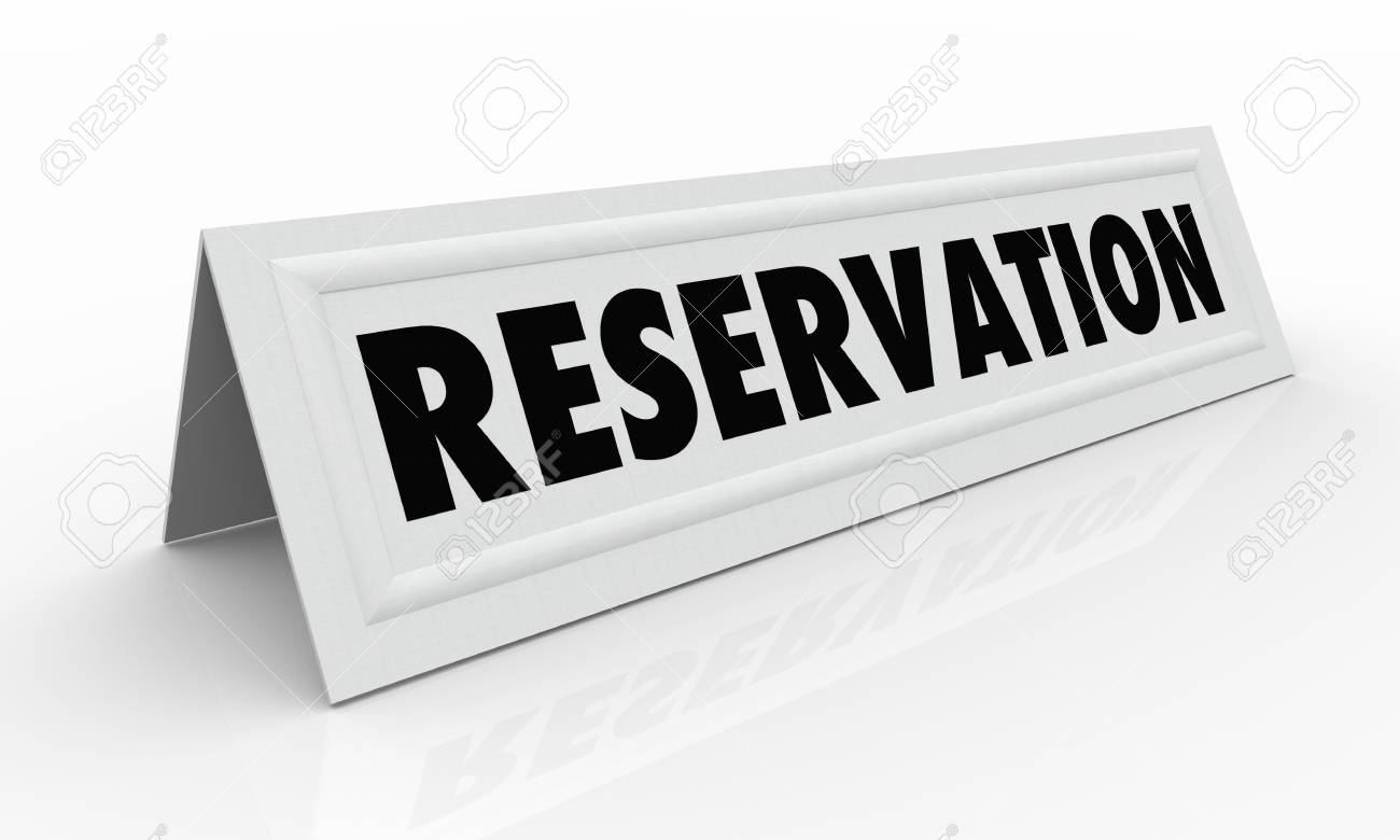 Reservation Table Tent Card Reserved Seat D Illustration Stock - Table tent card stock