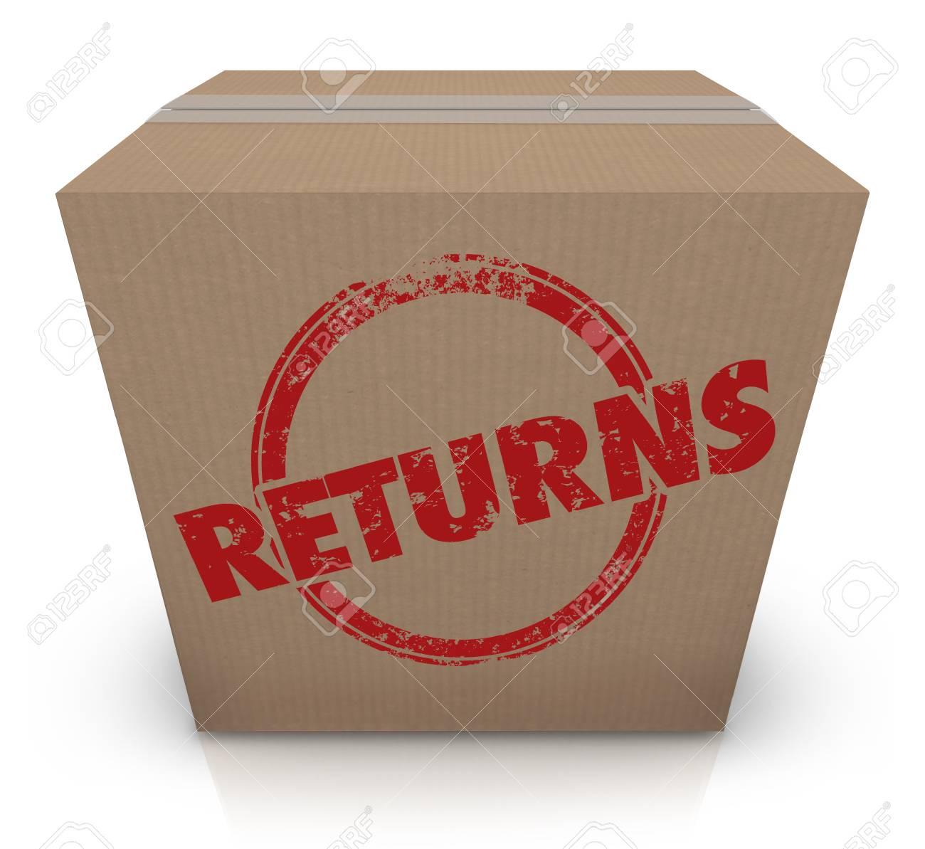 Returns Sending Back Box Package Unwanted Delivery 3d Illustration - 97161589