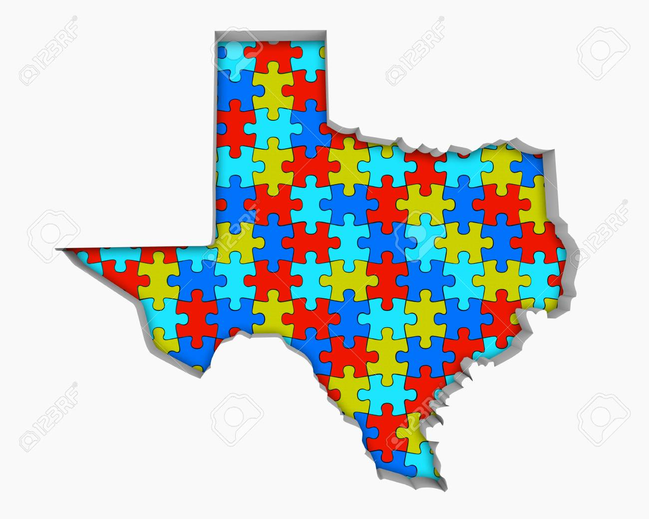 3d Map Of Texas.Stock Illustration
