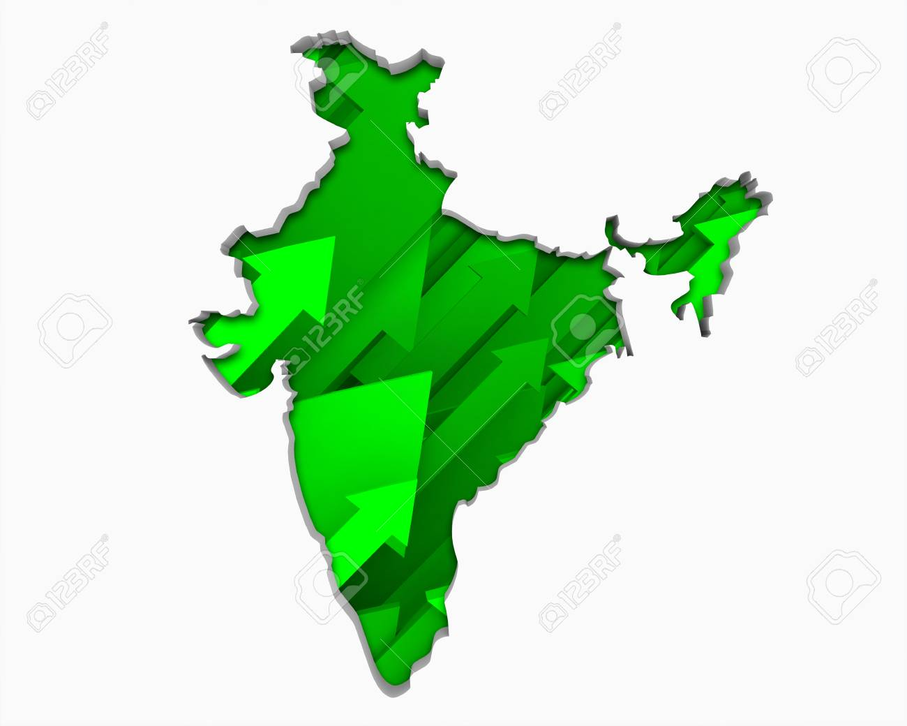 Map Of Asia India.Stock Illustration