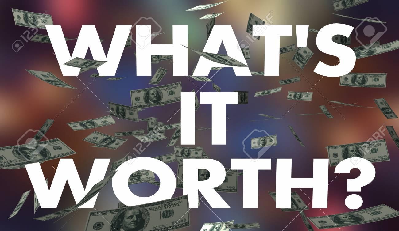 Whats It Worth >> Stock Illustration