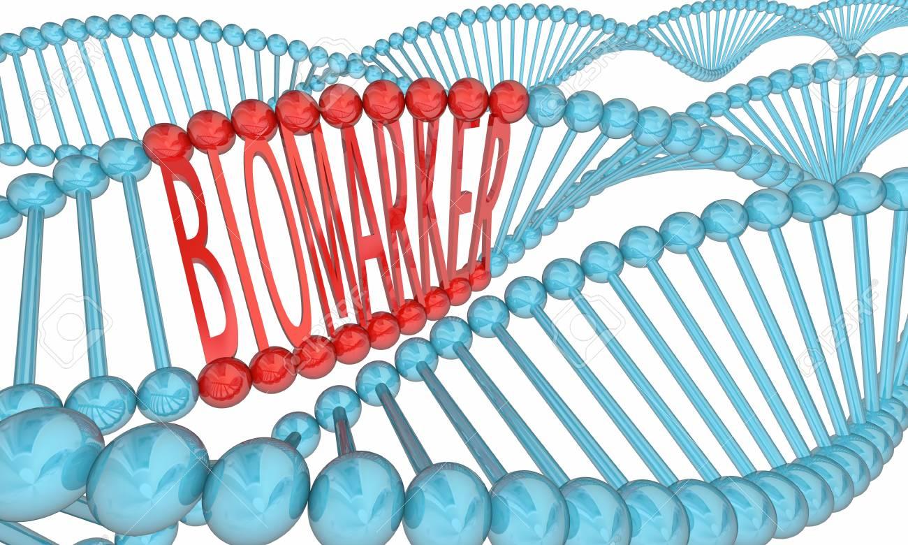 Biomarker DNA Strand Medical Research 3d Illustration - 112279972