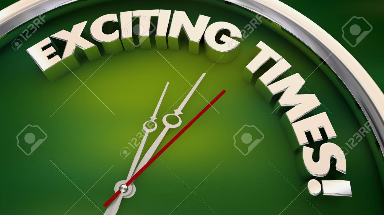 Exciting Times Fun Excitement Clock 3d Illustration - 117445988