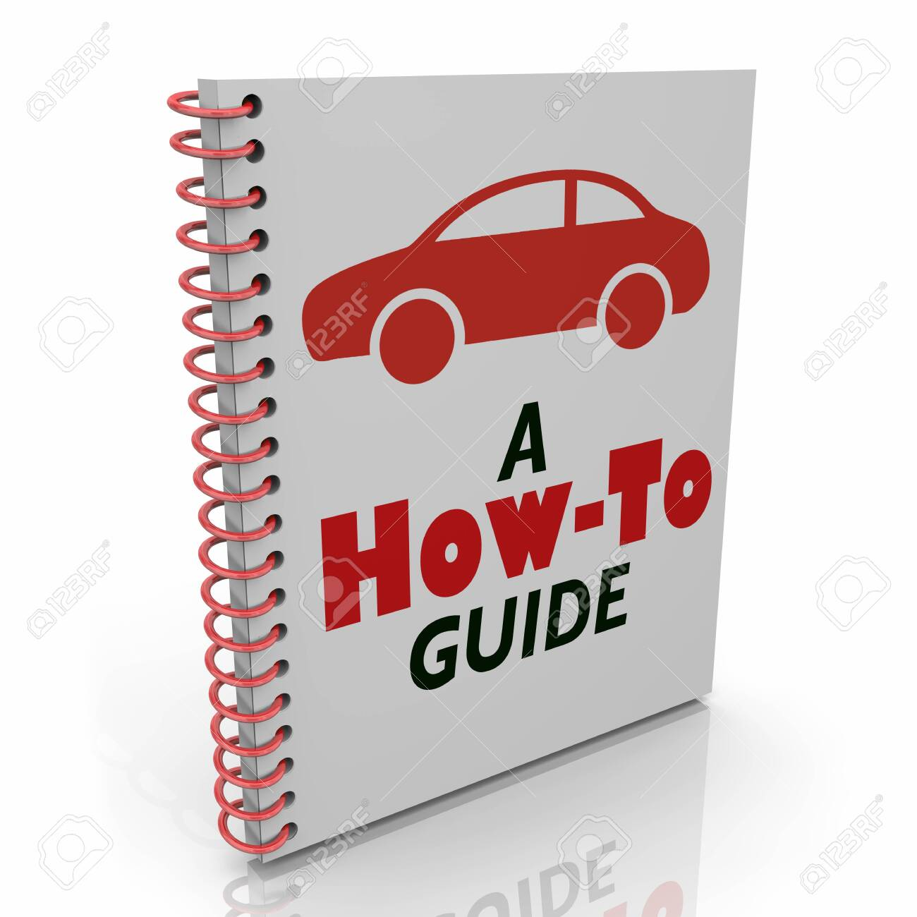 Auto User Manual How to Guide Car Vehicle Instructions Repair 3d Illustration - 121407906
