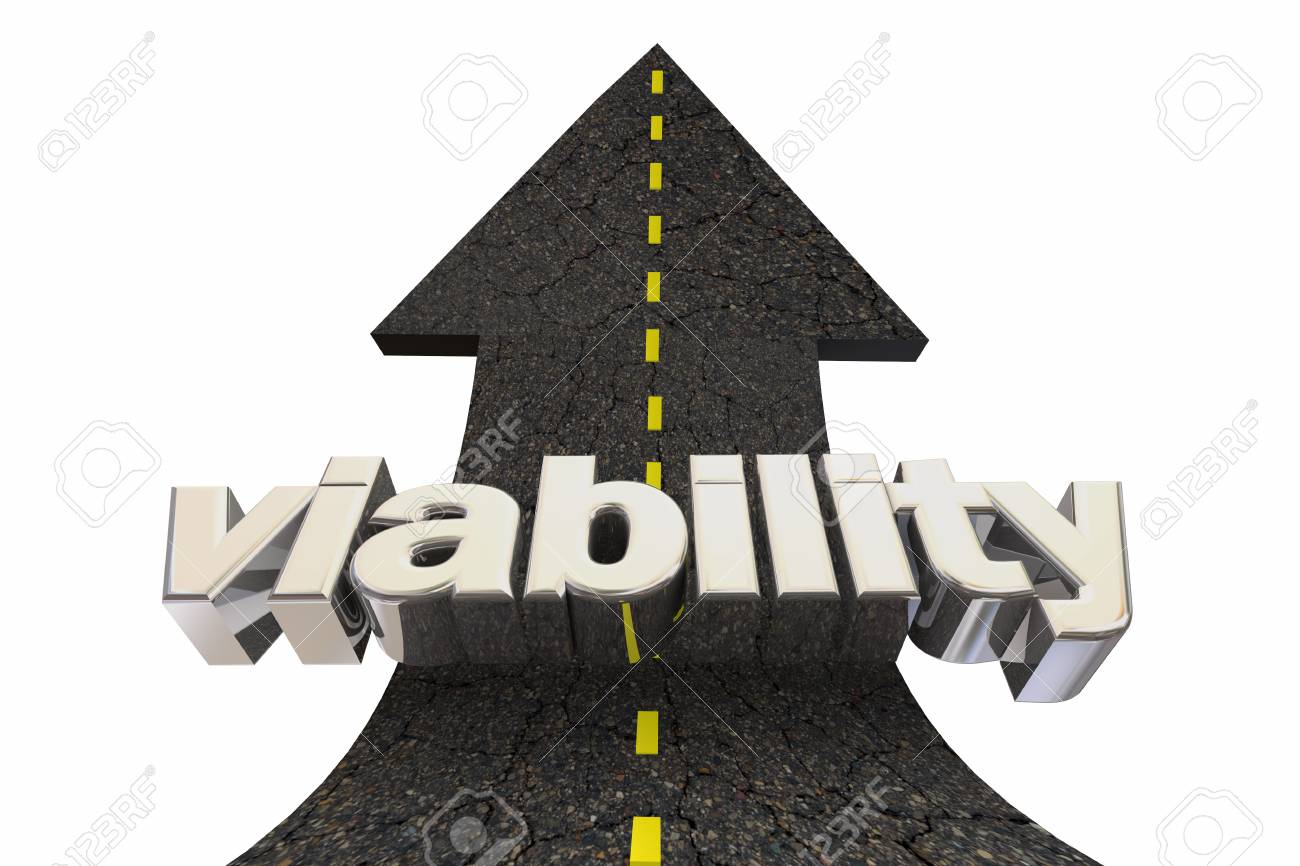 Viability Possible Solution Viable Outcome Road Arrow Up Word 3d Illustration - 124716086