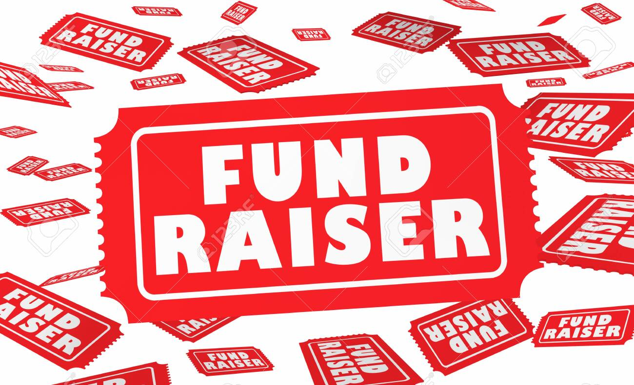 Fund Raiser Tickets Raffle Content Money Drive 3d Illustration Stock Photo,  Picture And Royalty Free Image. Image 130315982.