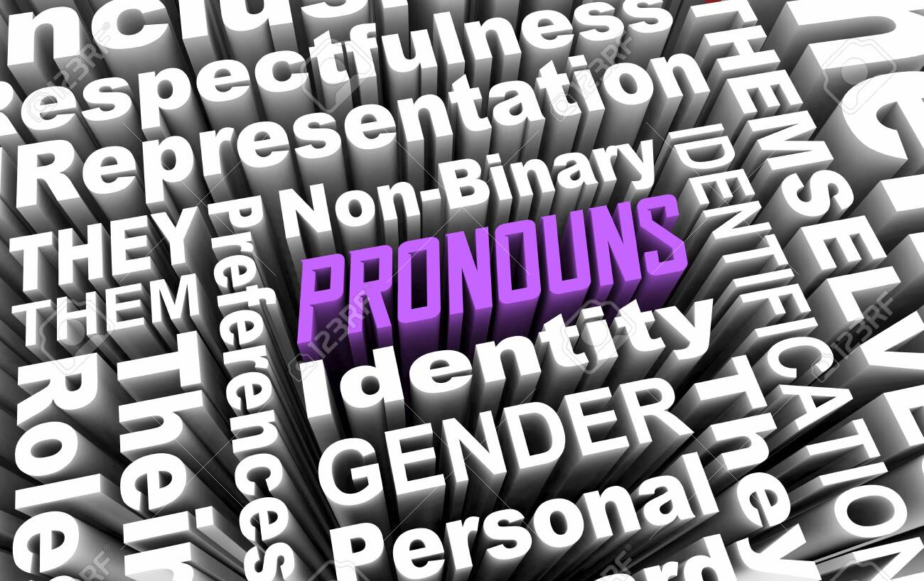 Pronouns Gender Identity Non-Binary Personal Preference Choices.. Stock Photo, Picture And Royalty Free Image. Image 151855802.