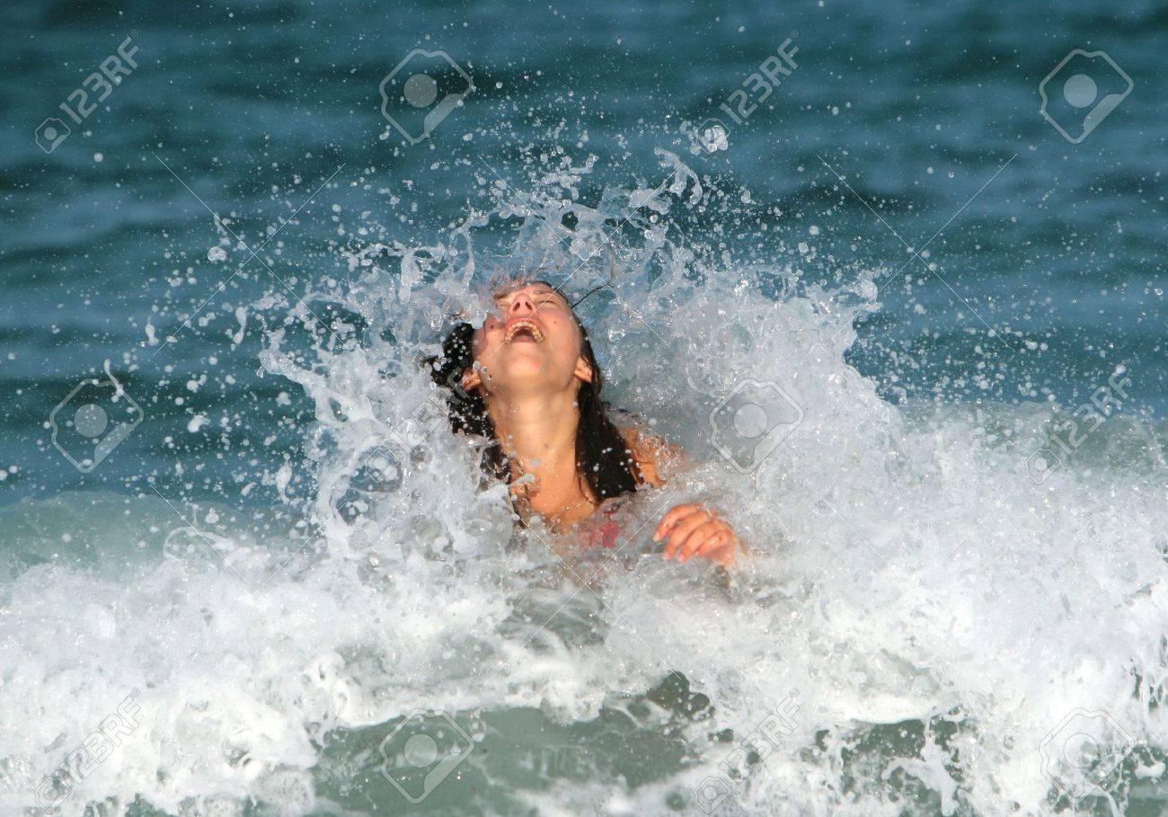 Joy in the ocean waves - 5760733