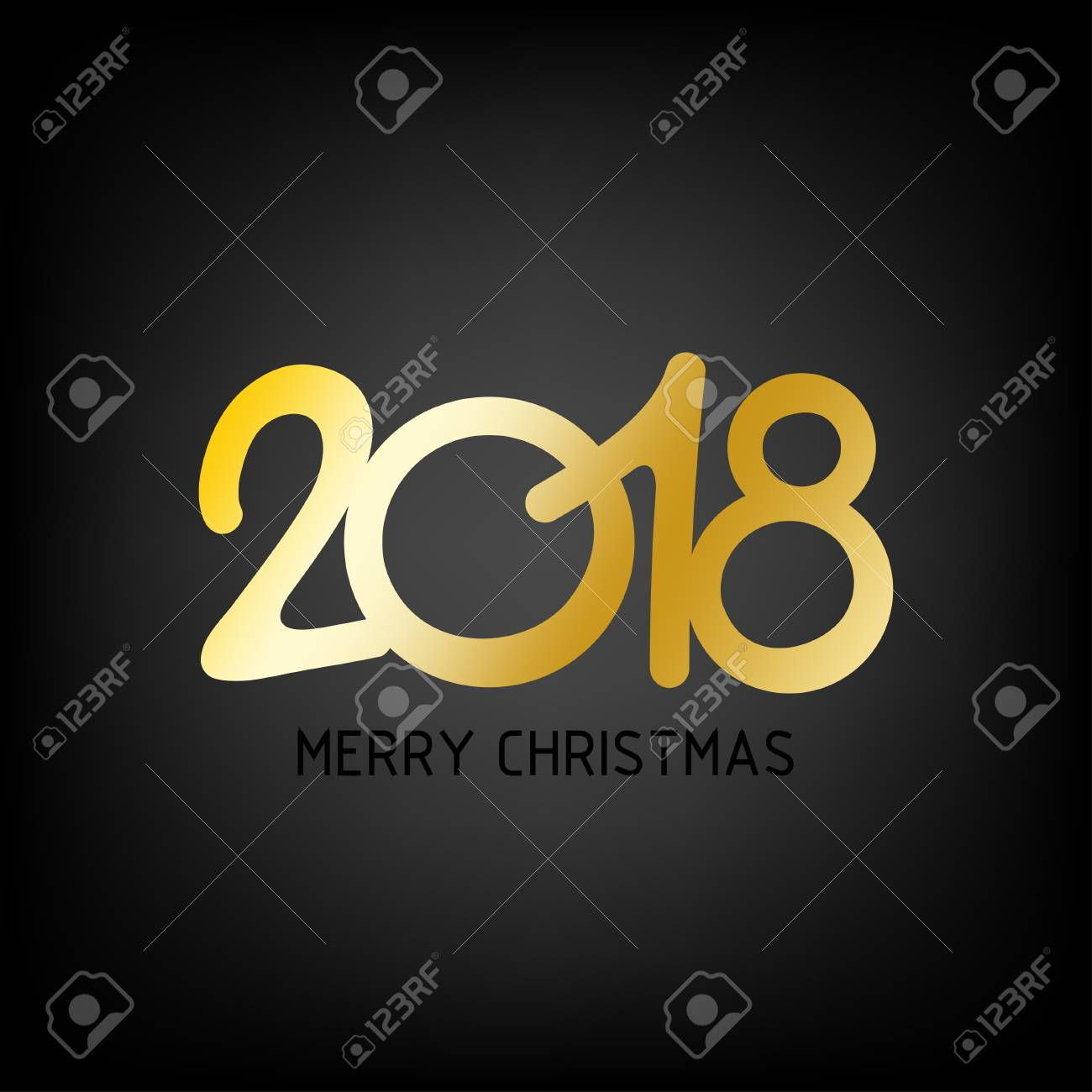 happy new year 2018 vector background new year and merry christmas 2018 theme stock