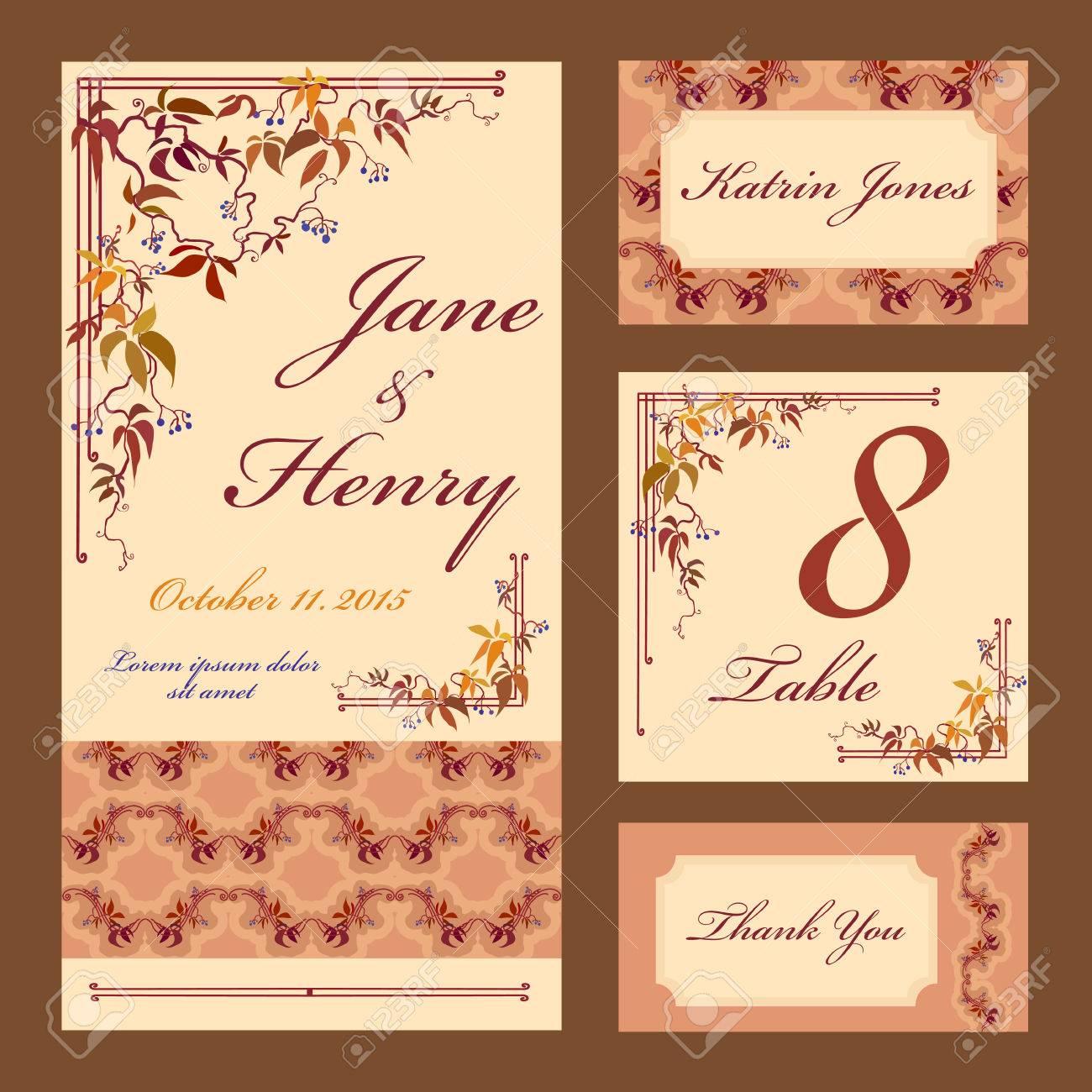 Set Printable Backgrounds To Celebrate The Wedding Invitation