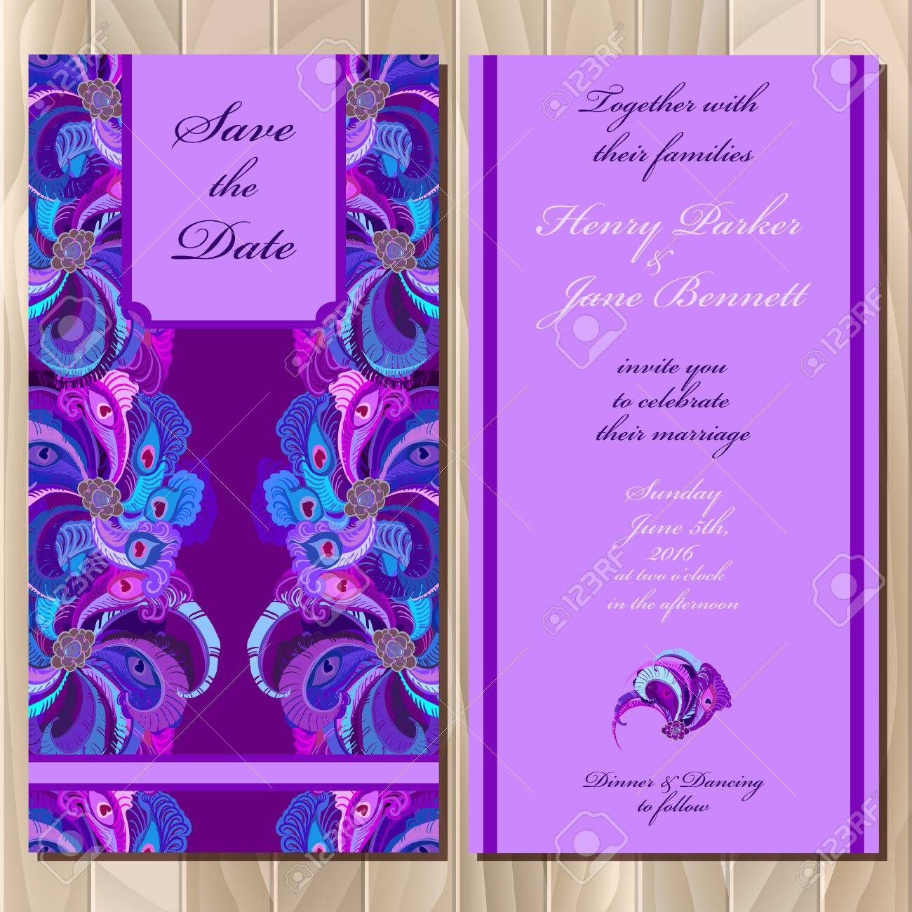 graphic regarding Printable Backgrounds identified as Marriage invitation card with pea feathers. Printable backgrounds..
