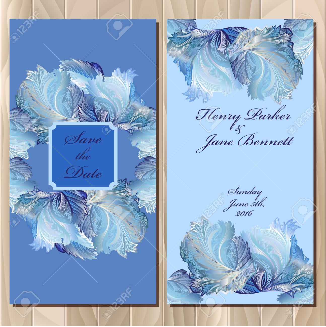 Blue wedding background design hd clipartsgram com - Wedding Invitation Card With Frozen Gl Design Printable