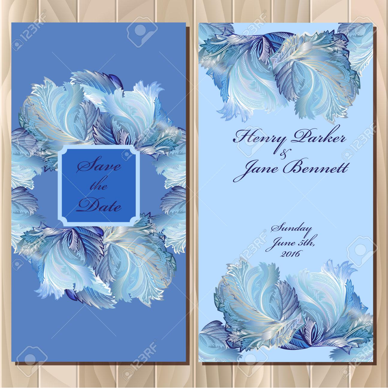 Wedding Invitation Card With Frozen Glass Design Printable Backgrounds