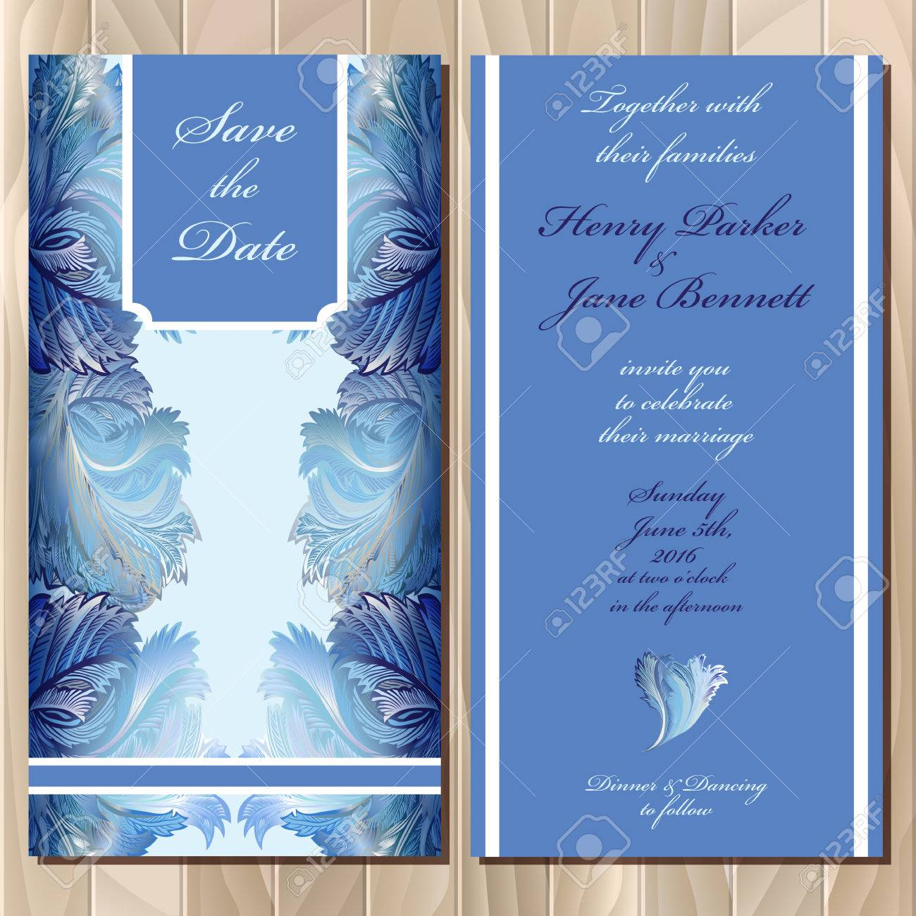 Winter Frozen Glass Design Set Printable Backgrounds Wedding Invitation Card Blue Design Vector Illustration Royalty Free Cliparts Vectors And Stock Illustration Image 48676584