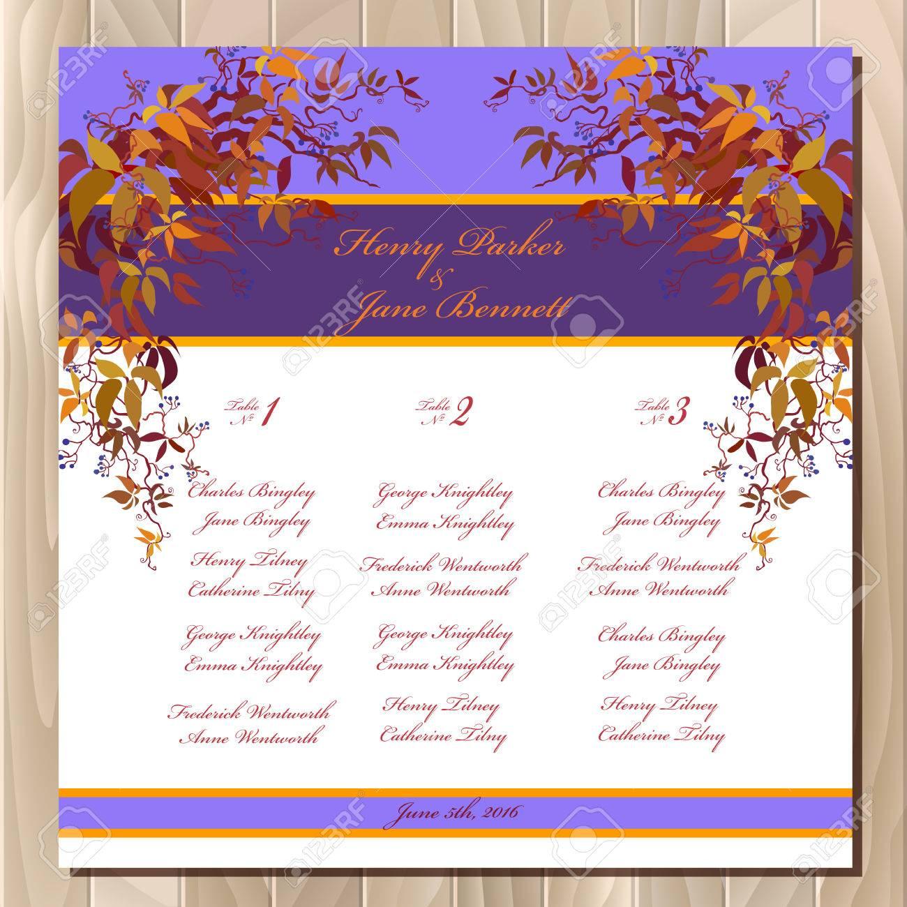 Beste Hochzeit Gästelisten Vorlage Zeitgenössisch - Entry Level ...