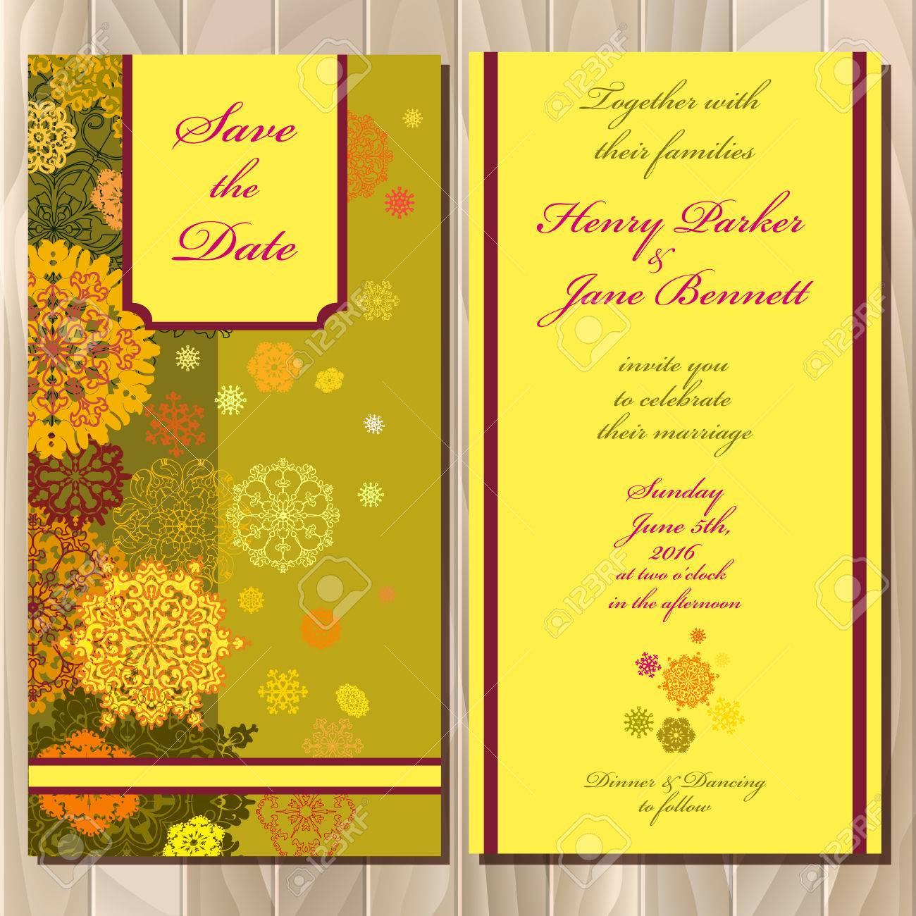 Snowflakes wedding invitation card save date text pistachio snowflakes wedding invitation card save date text pistachio khaki gold orange stopboris Choice Image
