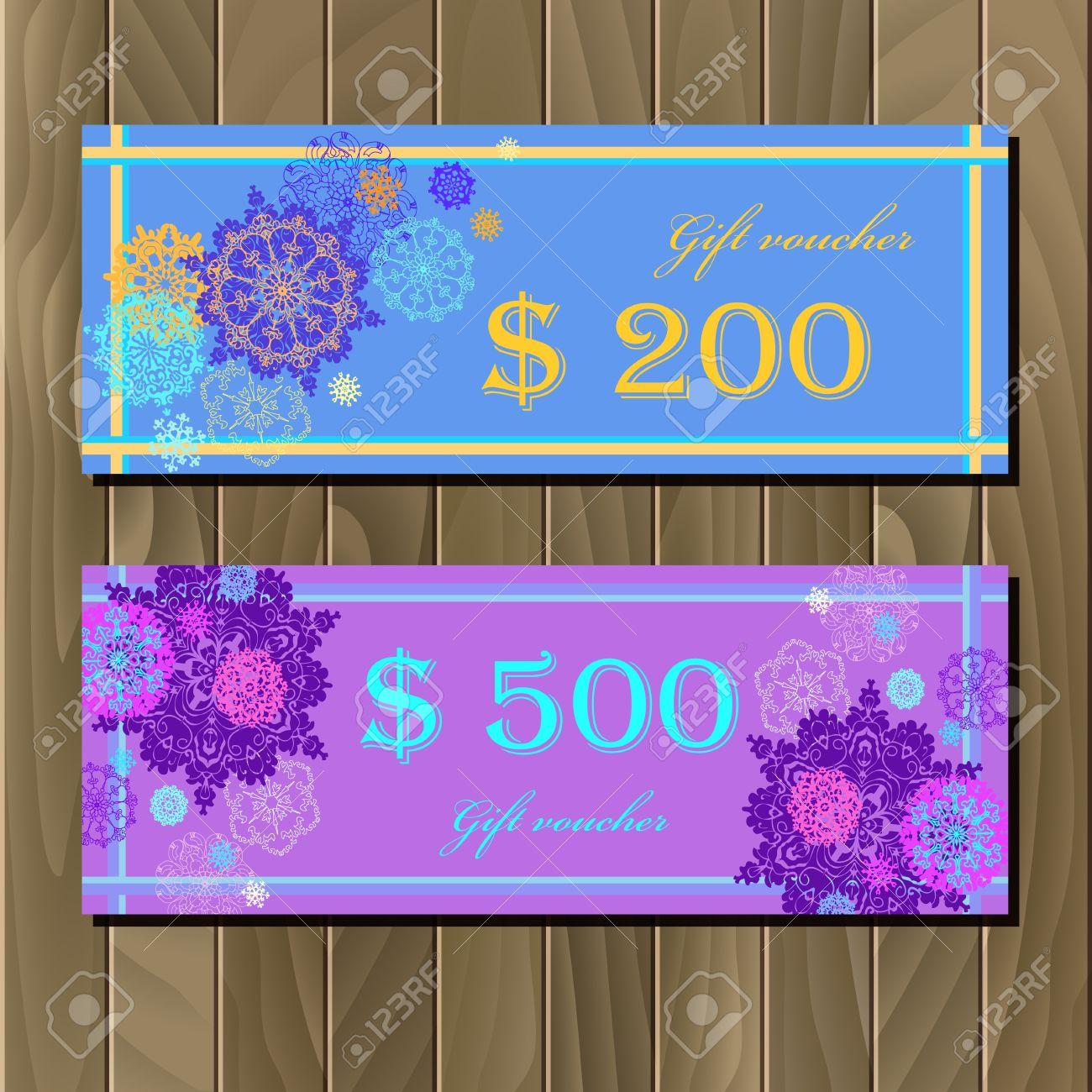 Gift Certificate Discount Voucher Coupon Template Winter – Discount Voucher Design