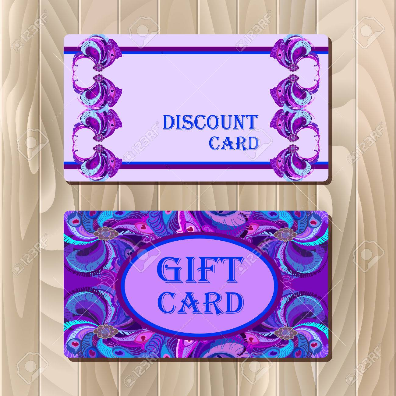 Discount card big sale gift certificate or voucher coupon discount card big sale gift certificate or voucher coupon templatewith peacock feathers yadclub Images