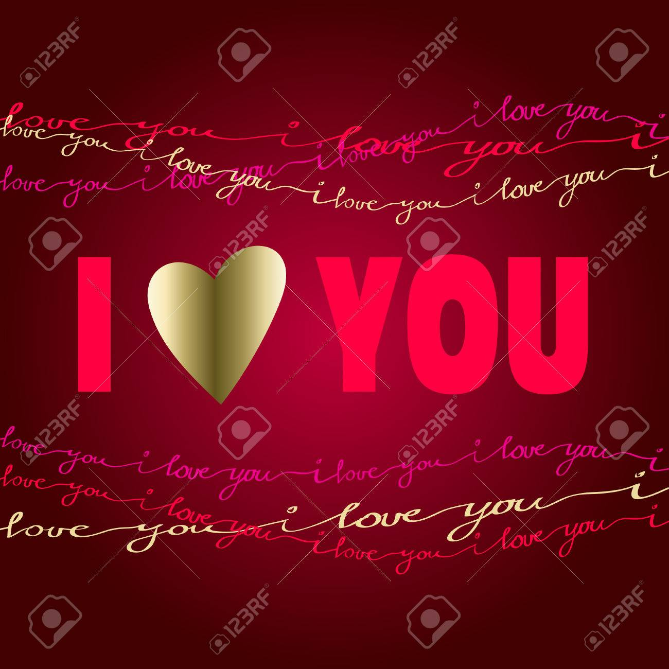 Valentine love card i love you greeting poster pink red gold valentine love card i love you greeting poster pink red gold handwritten m4hsunfo