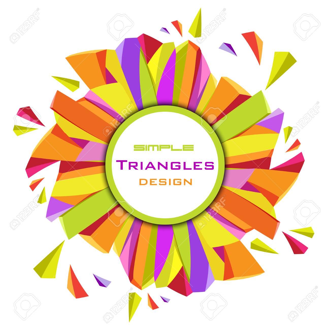 Resumen De Fondo Triángulos Geométricos. Marco Del Círculo Borde ...