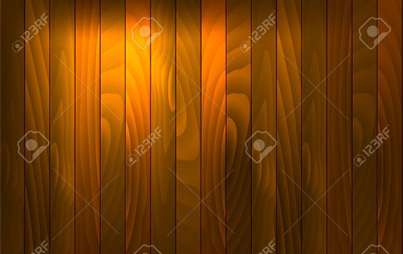 Vector wood background avec effet de lumière. bureau en bois avec
