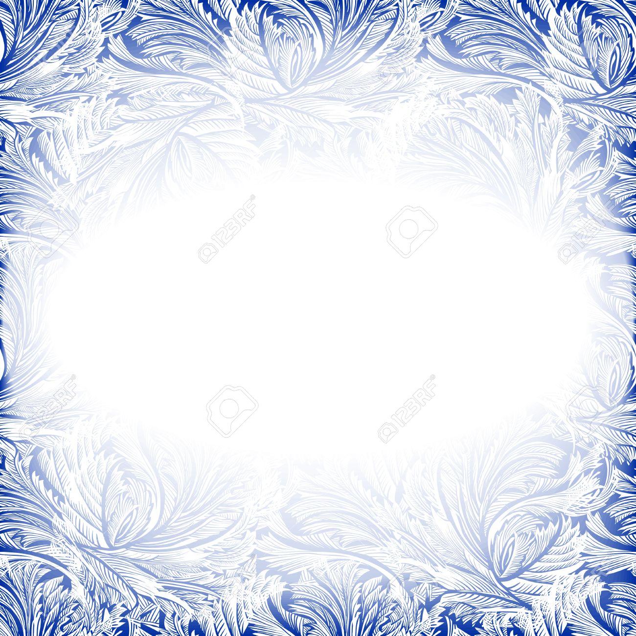 Marco De La Decoración De Cristal Congelado. Vacaciones De Invierno ...