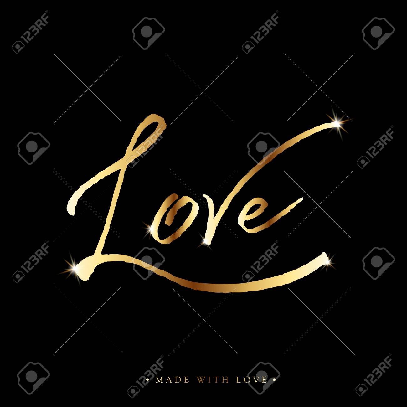 Love gold calligraphy valentines day romantic greeting card valentines day romantic greeting card handwritten modern golden shiny brush lover lettering for love cards banners posters m4hsunfo