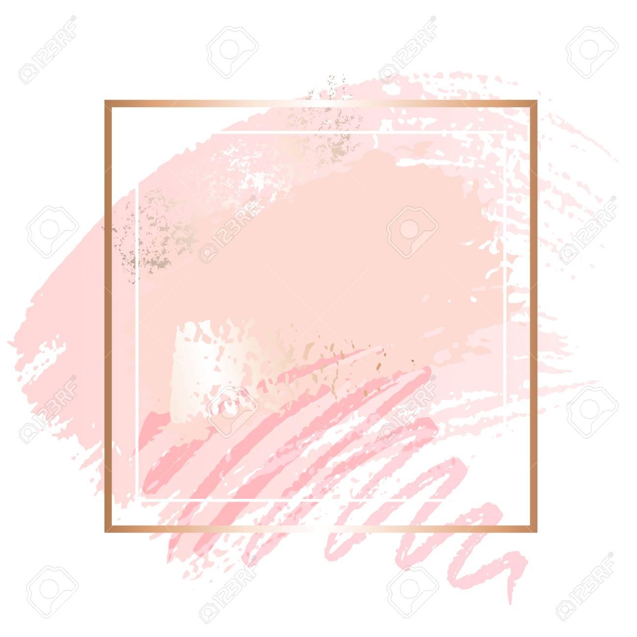 Golden pink art frames. - 114325611